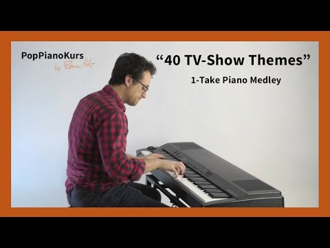 40 Greatest TV Show Theme Songs: On Piano In 1 Take (Series Intro Music)