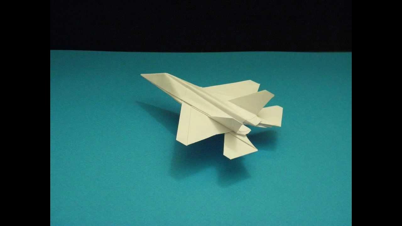flyable origami f-35 lightning by  ken hmoob