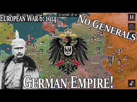 Germany 1914 NO GENERALS European War 6: 1914