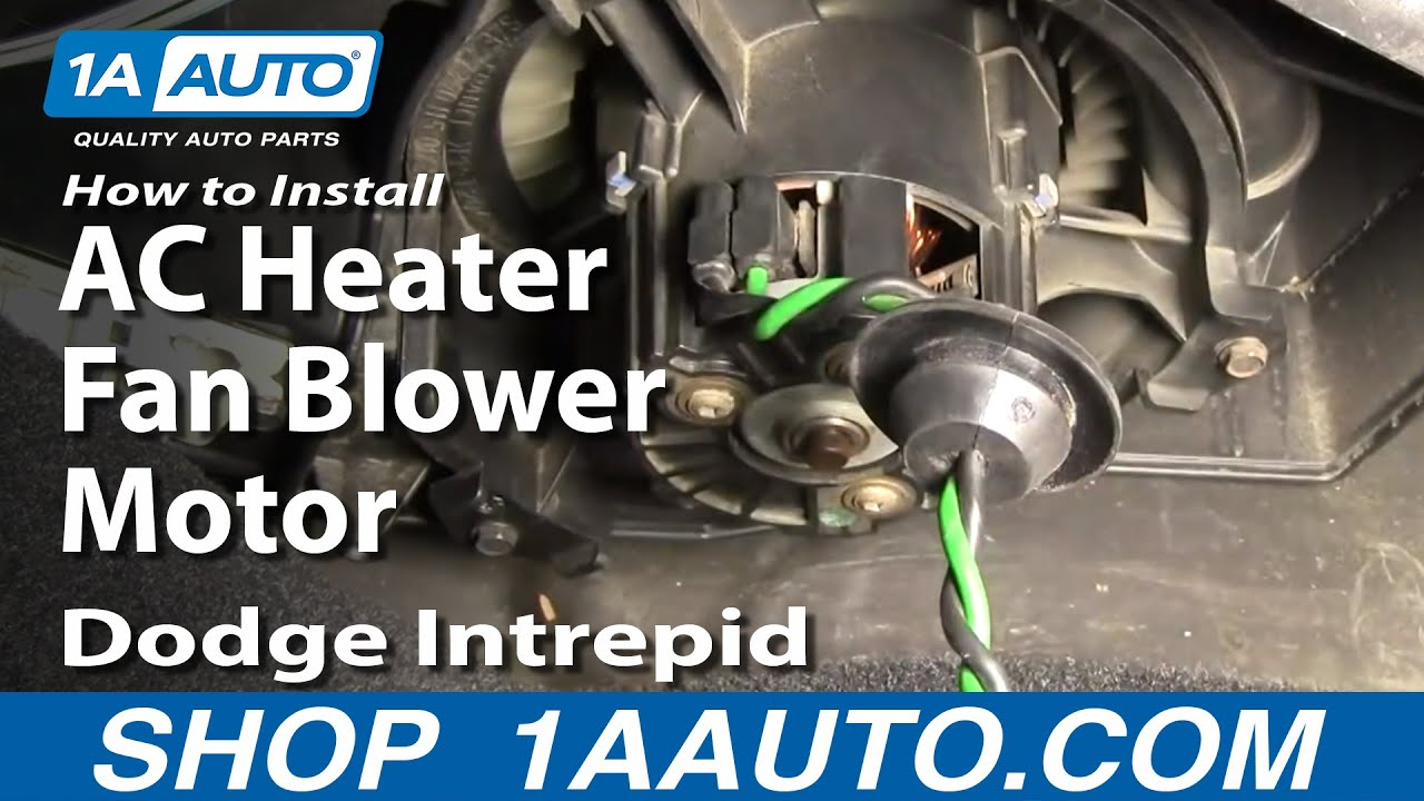 How To Install Repair Replace AC Heater Fan Blower Motor Dodge Intrepid 9804 1AAuto  YouTube