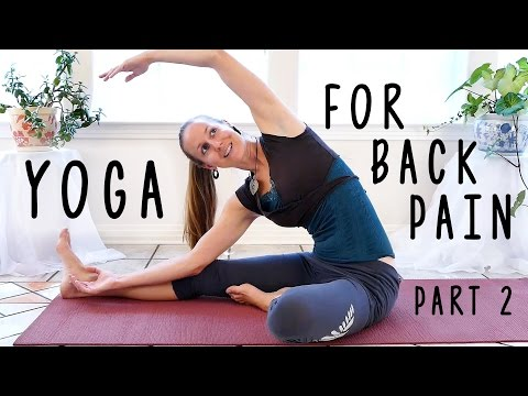 Easy Stretches For Low Back Pain, Back Pain Yoga Exercises Beginner Friendly Sciatica Relief, Part 2