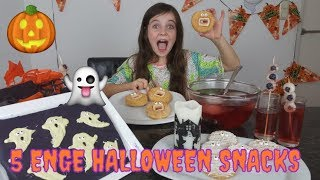 DIY - 5 SUPER ENGE HALLOWEEN SNACKS / SNOEP (Nederlands) - Bibi