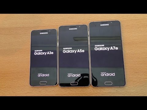 Samsung Galaxy A7 vs A5 vs A3 (2016) - Speed Test (4K)
