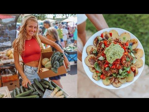 WHAT I ATE TODAY VLOG - Potato Nachos, Farmer's Market, & Pancakes