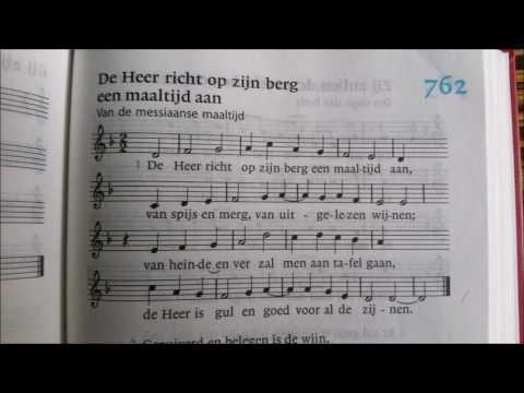 Nieuwe Liedboek gezang 762 - Melodie. De Heer richt op zijn berg een maaltijd aan