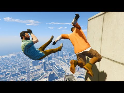 GTA 5 CRAZY Jumps/Falls Compilation #2 (Grand Theft Auto V Fails Funny Moments)