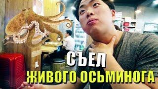 Дворец. Корейский Рынок. Попробовали живого осьминога.