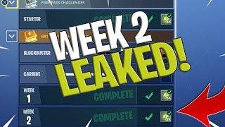 Fortnite Week 2 Challenges LEAKED! Fortnite Season 4 Battle Pass Week 2 ALL CHALLENGES!