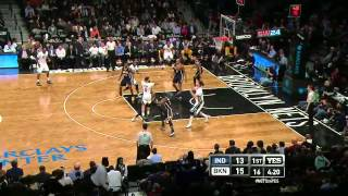 Deron Williams Crosses & Dishes Lopez  Pacers @ Nets 31 Marzo 2015