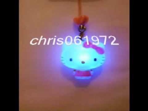 Hello kitty key chain bijou protable mobile hello kitty for Miroir qui s allume