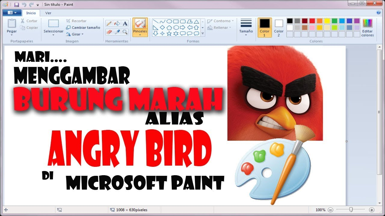 24 4 MB] Easy drawing Angry Bird in Microsoft Paint #11 MP3