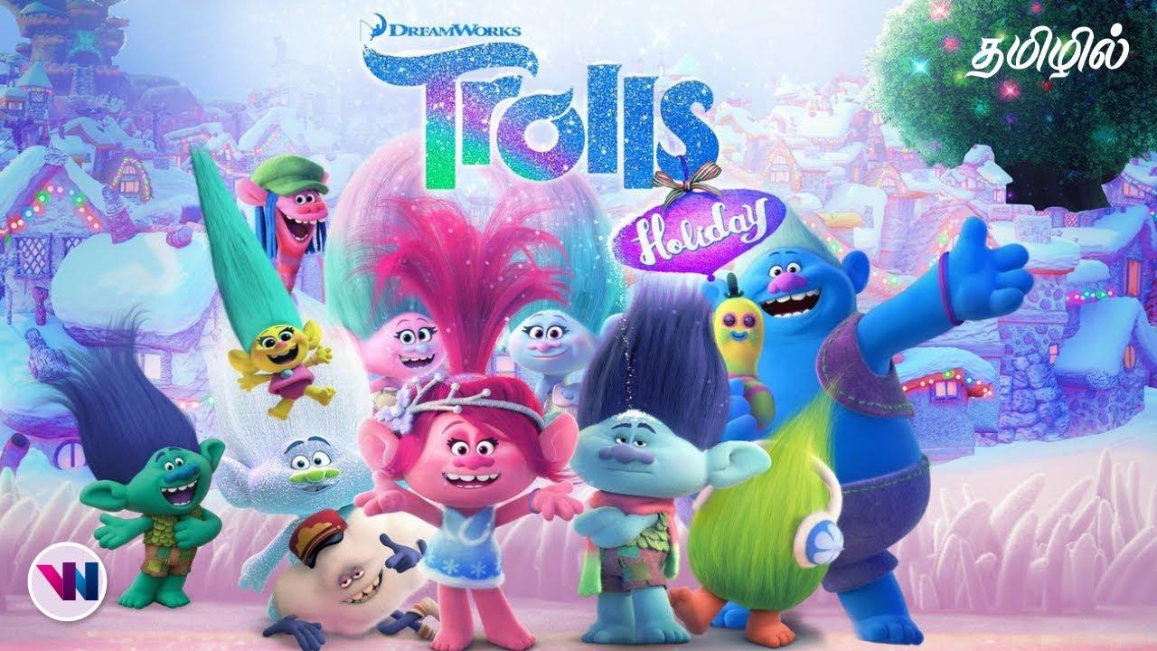 Download TROLLS Holiday 2017 movie tamil dubbed animation fantasy adventure feel good movie vijay nemo