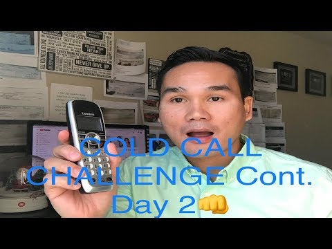 COLD CALL Challenge For All My Subscribers -Day 2:  Wholesale Houses/House Flipping