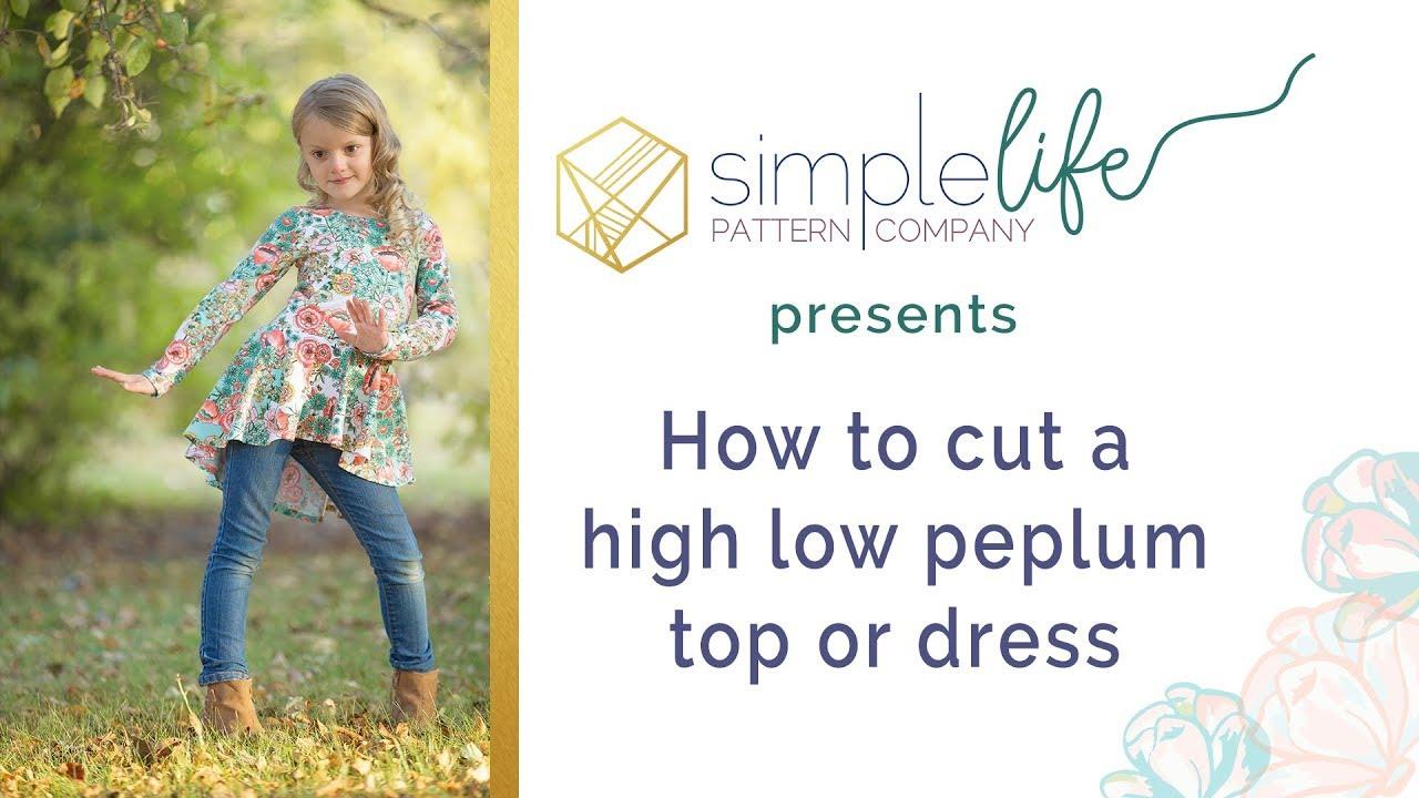 How to cut a high low peplum top circle skirt dress - YouTube