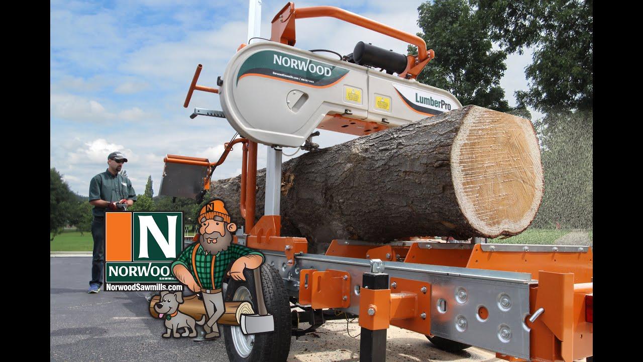 Une Scierie à Ruban Mobile Lumberpro Hd36 De Norwood Manuelle Ou