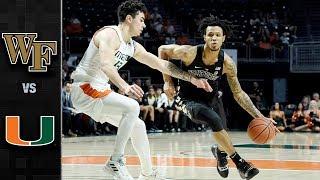 Wake Forest vs. Miami Basketball Highlights (2018-19)