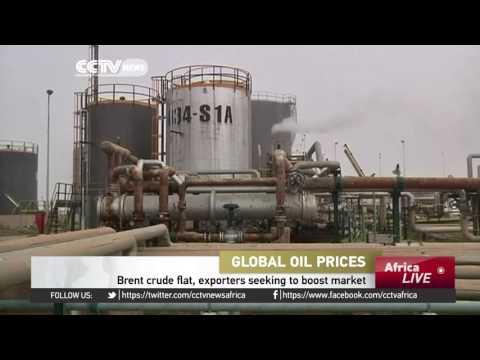 Brent crude trades flat, exporters seeking to boost market