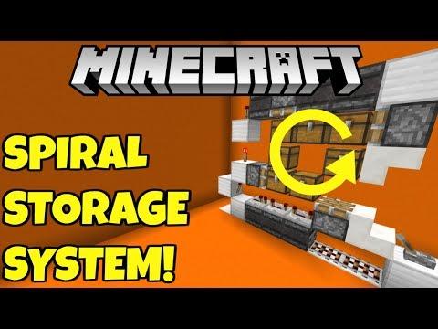 Minecraft Rotating Storage System Tutorial! Bedrock Edition PE MCPE Xbox