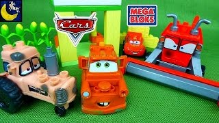 Disney Cars Mega Bloks Toys Tractor Tipping Frank Chewball Tractor Tow Mater Lightning Mcqueen Toys! thumbnail