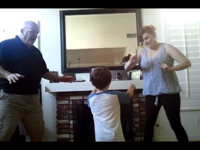 Watson family dance off