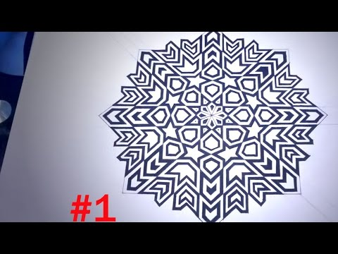 How To Draw Islamic Geometric Patterns - 8 Phases Of The