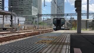 E257系特急踊り子停車&発車 品川駅にて
