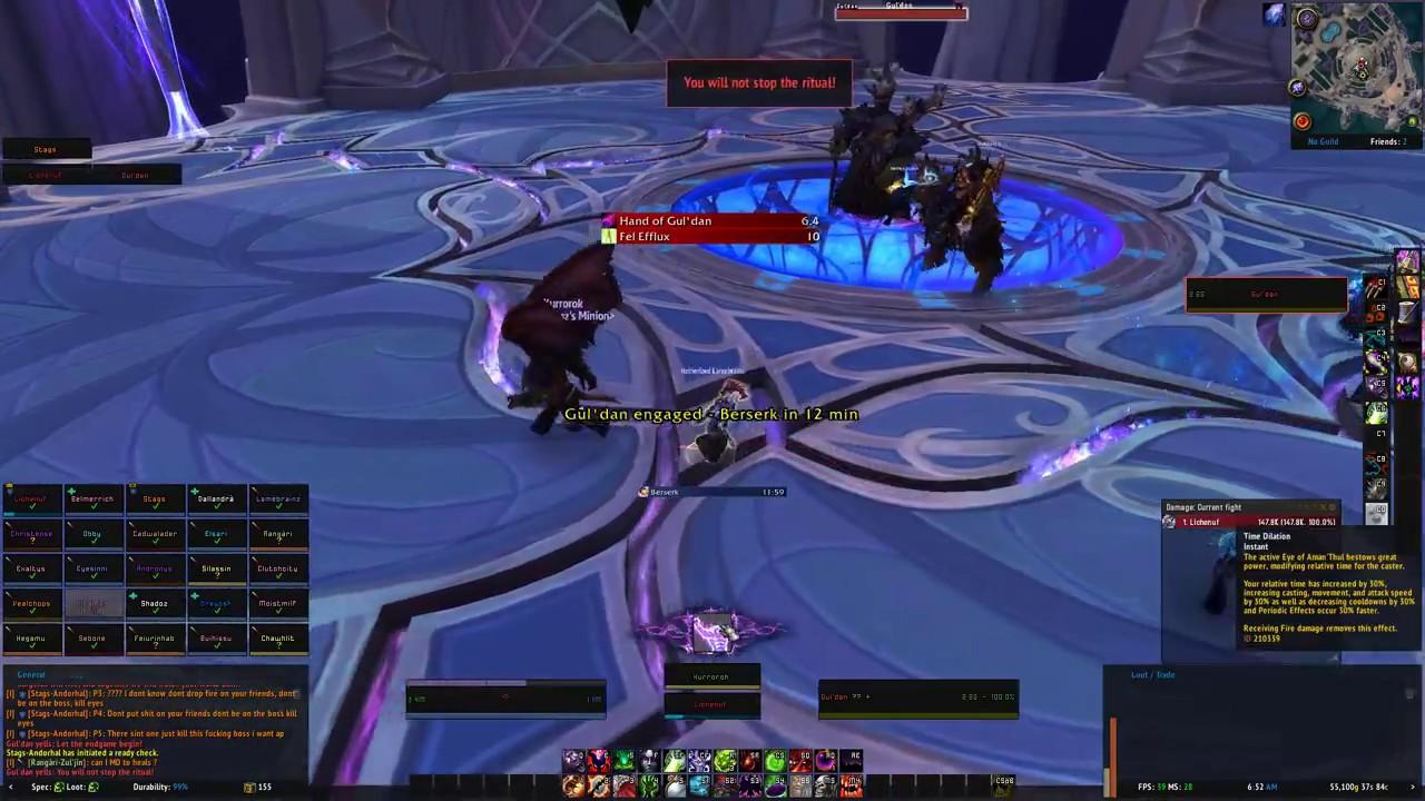 R5 1600 + RX 580 World of Warcraft Raid Test