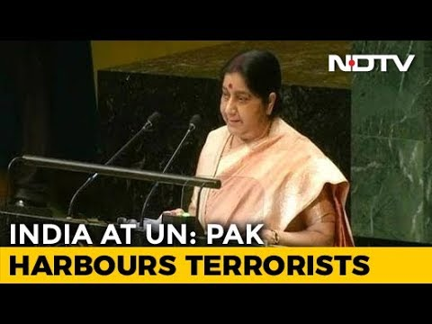 """Pakistan Sheltered Osama Bin Laden"": Sushma Swaraj's Full Speech At UN"
