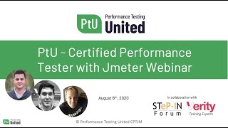 Performance Testing United - Certified Performance Tester with JMeter - Webinar recording