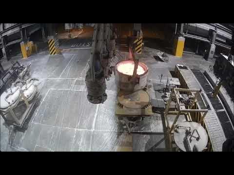Aluminium smelter overhead crane accident. The floor is lava.....