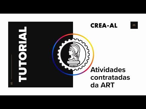 Atividades contratadas da ART -  Crea-AL