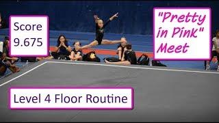 Gymnastics Level 4 Floor Routine Jordan Clark