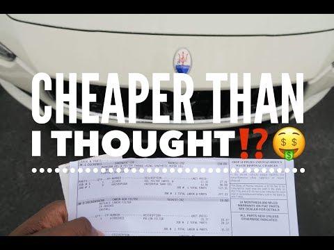 2nd Year Maserati Ghibli Maintenance Costs How Much?!