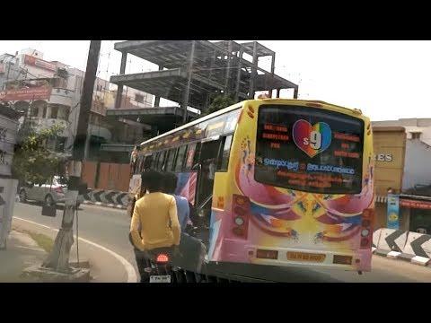PRIVATE BUS S9 RASH DRIVING   INSANE IDIOT DRIVER IN COIMBATORE CITY