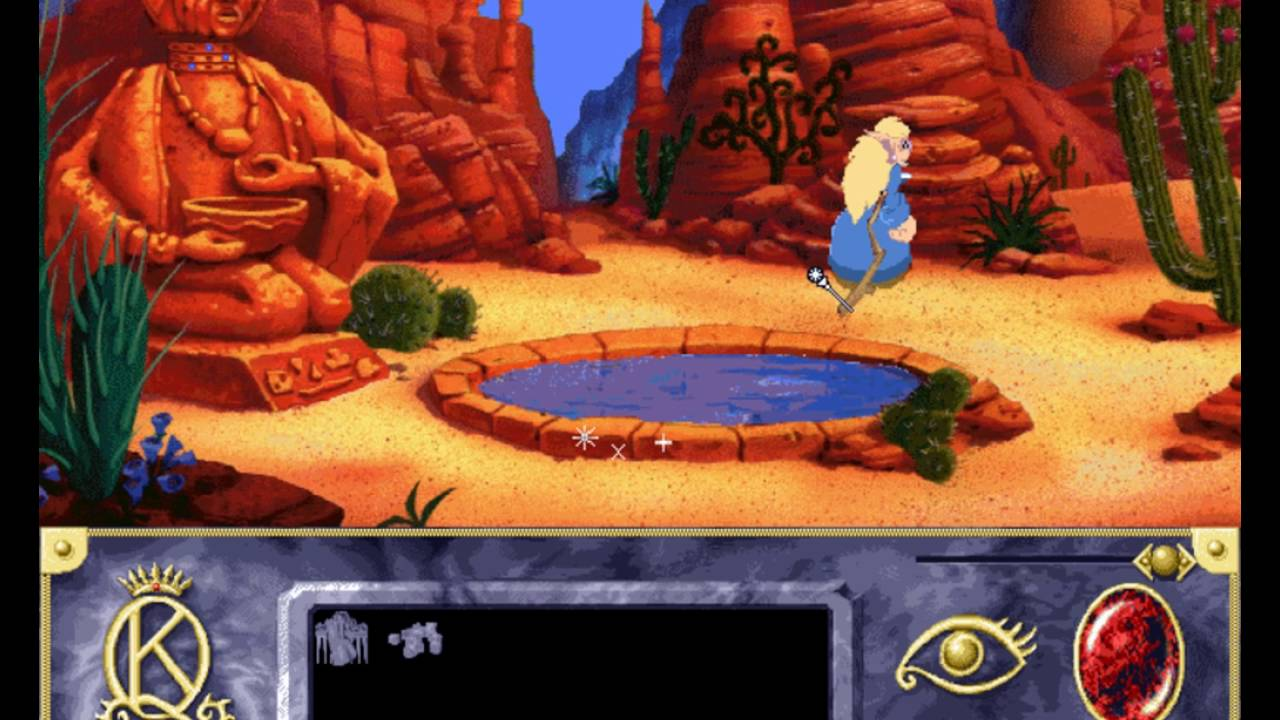 Rosella troll in the desert! King's Quest 7 bug - YouTube  Rosella Kings Quest
