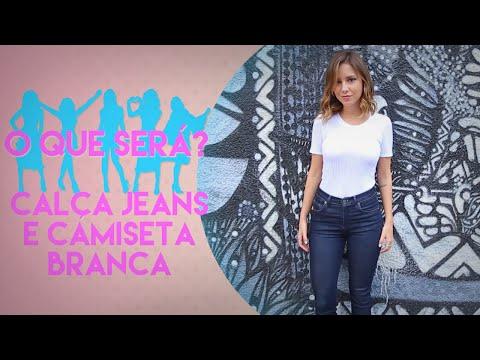 LOOK SEXY COM CALÇA JEANS E CAMISETA BRANCA