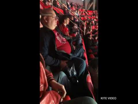 Karaoke at the at the Red Wings arena