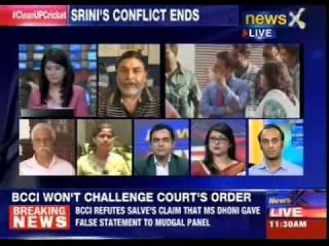 Sunil Gavaskar to replace N Srinivasan as BCCI President