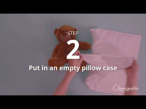 How to wash a teddy bear