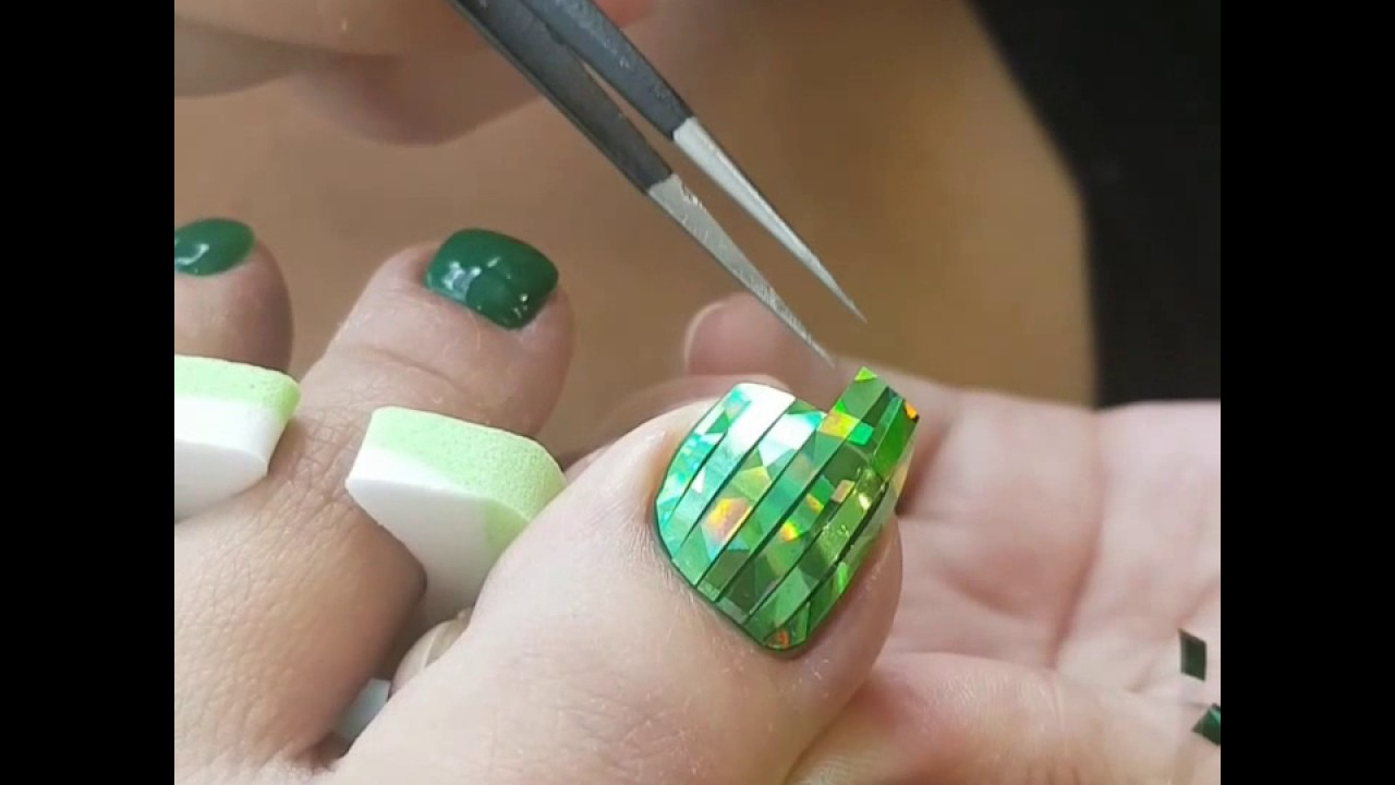 매직(호일)필름 네일아트(Magic Film Nail art) :: 원더뷰티 - YouTube
