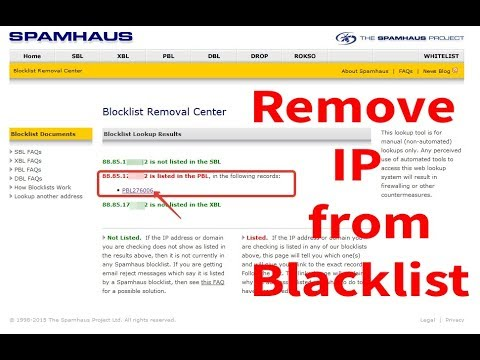 How to Remove ip from Blacklist | Spamhaus