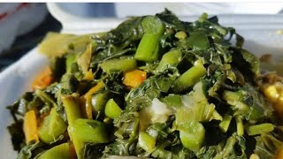 Healthy breakfast recipe Jamaican callaloo last day of the year 2020  New years eve morning