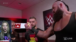 WWE Raw 5/21/18 Braun Crushes apple backstage