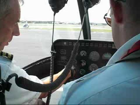 Peter Coombes - 1st turbine start Jet Ranger Bristow Academy Helicopters