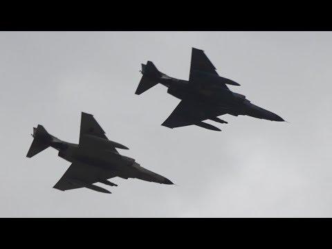 RF-4ファントム展示飛行 まさかのワンパスで会場がざわつく / 静浜基地航空祭2018 RF-4E Phantom II.JASDF 501SQ