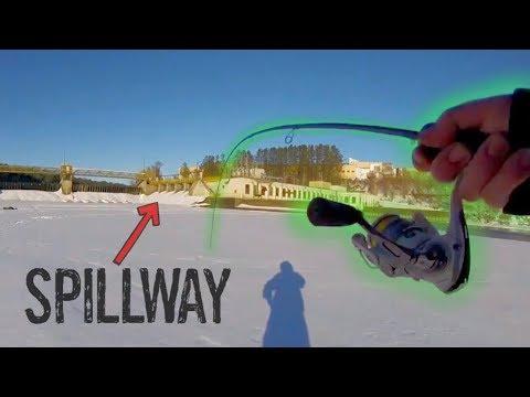 Ice Fishing Giant URBAN Spillway! (FISH FRENZY)