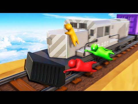 HOLD ON TO THE 250MPH TRAIN! Gang Beasts