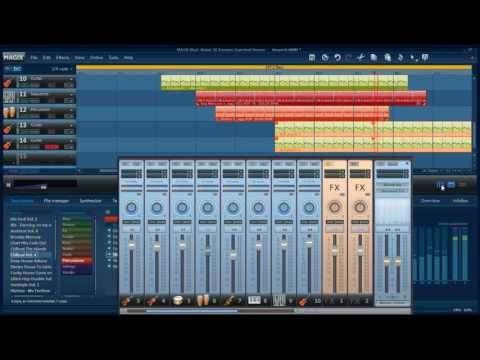 Magix Music Maker - Chillout mix live playa