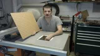 Portable Downdraft Sanding Table On The Table Saw