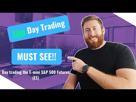 LIVE DAY TRADING – HOW TO TRADE THE E-MINI S&P 500 FUTURES CONTRACT(ES)